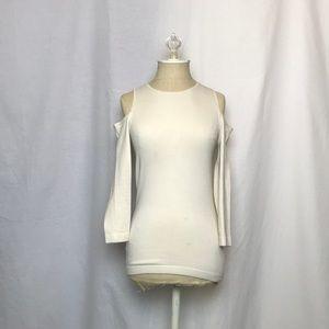 Ann Taylor | Silk Cold Shoulder Top | Sz XS